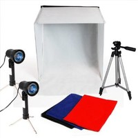 "LimoStudio Photography Photo Studio 16"" Table Top Photo Tent 600Lumes LED Lighting Kit with 41"" Camera Tripod, AGG778"