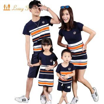 4e7f0a9ae Family Matching Clothing Fashion Look Striped Summer T-shirt Out