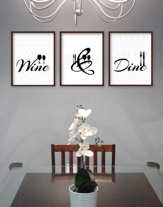 Full for Wall art for dining room contemporary