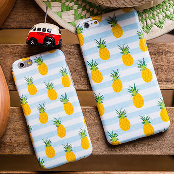 Fruits Pineapple Case for iPhone 7 7Plus & iPhone 6s 6 Plus & iPhone X 8 Plus with Gift Box