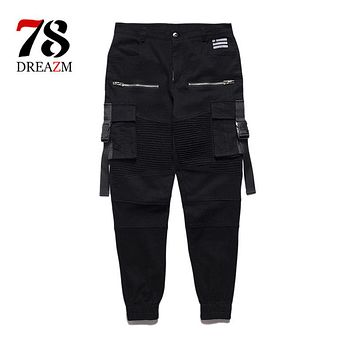 New Dry Men's Pants pocket Full Length Men joggers Pants Trousers men belt and women streetwear