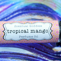 TROPICAL MANGO Perfume Oil - Bright & Lively Sweet Mango & Coconut - Fruity Exotic Island Scent