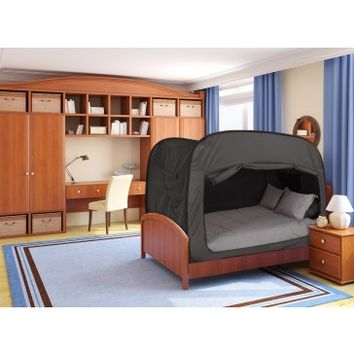 PrivacyPop.com - Privacy Pop Bed Tent (Queen) - BLACK