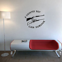 Wall Decor Vinyl Decal Sticker Mural Cute Phrase about Country Boy OS251