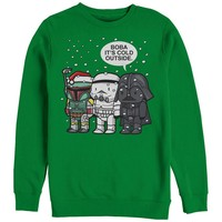 Star Wars Men's - Christmas Boba It's Cold Outside Sweatshirt