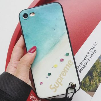 Sunshine beach Pattern Case for iPhone X 8 7 6S Plus &Gift Box