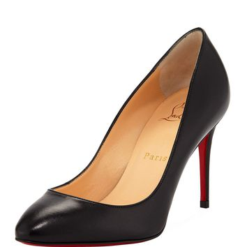 Christian Louboutin Eloise 85mm Napa Leather Red Sole Pumps