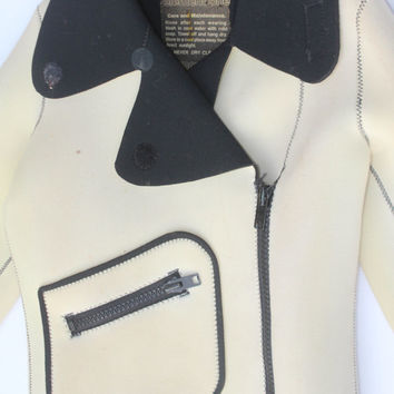 80s Neoprene Sport Jacket by AARDVARKMARKET on Etsy