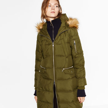 QUILTED ANORAK WITH INTERIOR STRAPS DETAILS