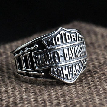 Real Solid 925 Sterling Silver Biker Rings For Men Vintage Punk Mens Opening Adjustable Size Male Jewelry Aneis Masculino