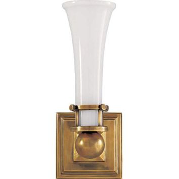 Visual Comfort and Company SC2109HAB-WG Antique Brass Luxe One-Light Sconce