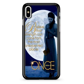 Once Upon A Time Belle Full Moon iPhone X Case