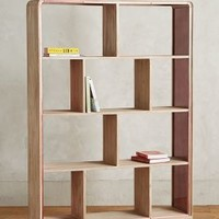 Rose Glass Medium Bookcase by Tracey Boyd Neutral Medium Bookcase House & Home