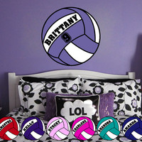 Personalized Volleyball Vinyl Wall Decal Sticker 26""