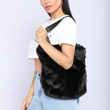 Fur Of The Party Tote Bag - Black
