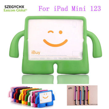 Silicone For iPad Mini 1 2 3 Case Thick Foam Shock Proof Soft Stand Tablet Case For iPad Mini 123 3D Cute Cartoon Kids Cover