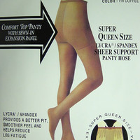 Lycra® Spandex Sheer Support Pantyhose with Sewn-in Expansion Panel (6pcs)