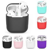 Silicone Bluetooth Wireless Earphone Case For AirPods TPU Protective Cover Headphones Cases For Apple For AirPods Charging Box