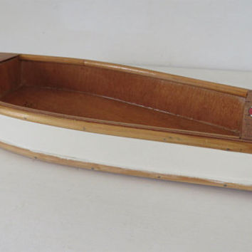 Vintage French, Skiff Boat, Model, Hand Crafted