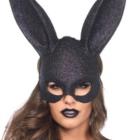 Mask Rabbit Glitter Black awesome for halloween