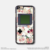 Rose Floral Nintendo Game Boy iPhone 6 6 Plus 5S 5C 4 4S case Free Shipping 725