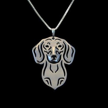 Dachshund Silver Plated Necklace - Proceeds go to Animal rescue