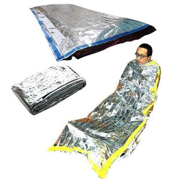 VONL8T New Lightweight Outdoor Waterproof Emergency Sleeping Bag Survival Rescue Thermal First Aid Blanket Camping Foil Rescue Blanket