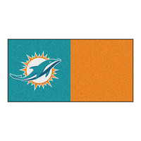 Miami Dolphins NFL Team Logo Carpet Tiles