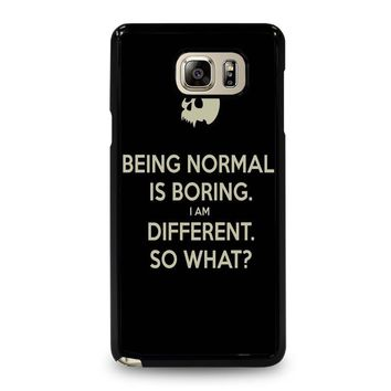 NORMAL IS BORING QUOTES Samsung Galaxy Note 5 Case Cover