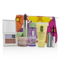 Clinique Travel Set: Make Up Remover+DDML+Moisture Surge Intense+Eye Shadow Duo & Blush+Mascara+Lipstick+Bag Skincare