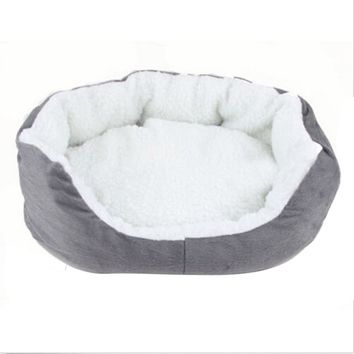 46*42cm Dog Bed Soft Fleece Puppy Cat Bed House Cozy Nest Mat Pad for Pets Kitten Dog Supplies 7colors