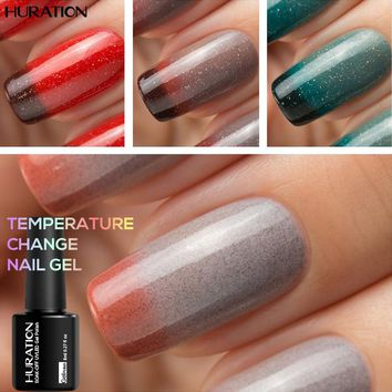 Huration 29 Color UV 8ml Chameleon Temperature Change Gel Polish Varnishes Soak-off LED Lamp Lak UV Nails Gel Lacquer