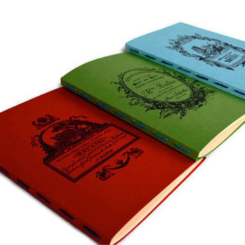 Notebooks  Jotters   Journals   Hand Stitched by valburgesscollage