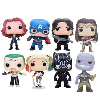 10cm Captain America 3 Civil War winter soldier Iron man  Avengers Justice League batman superman action Vinyl Figure Model Toy