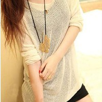 Oversize Pure Color Blouse for Women VQW434 from topsales
