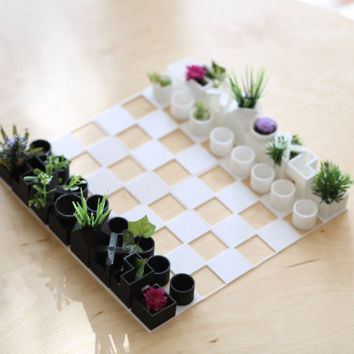 3D Printed Mini Chess Planter. Amazing gift for all-occasion.