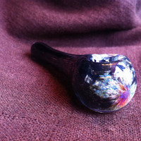 Black w/Magenta Color Changing Glass Pipe