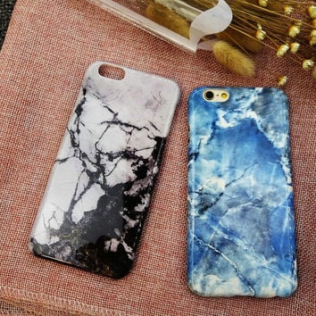 Fashion Blue Marble Stone iPhone 7 7 Plus & iPhone 6 6s Plus & iPhone 5s se Case Personal Tailor Cover + Gift Box-485