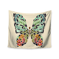 """Art Love Passion """"Butterfly"""" Brown Multicolor Wall Tapestry"""
