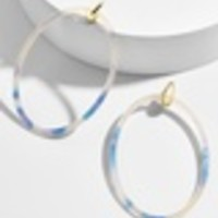 Delaina Resin Hoop Earrings