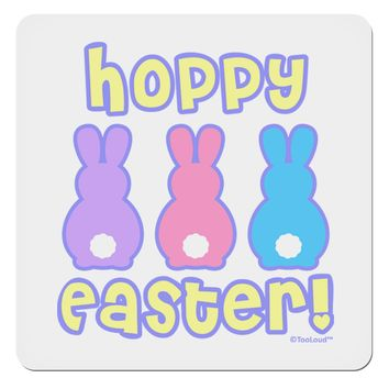 "Three Easter Bunnies - Hoppy Easter 4x4"" Square Sticker by TooLoud"