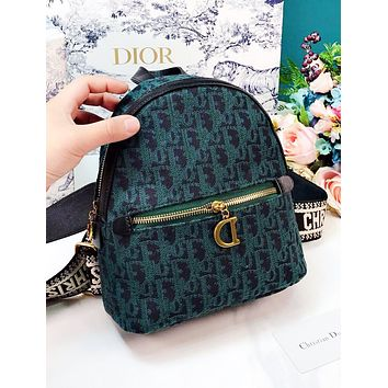 DIOR Women Fashion New More Letter Leisure Mini Backpack Bag