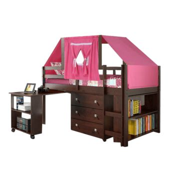 Gabriel Cappuccino Loft with Pink Tent