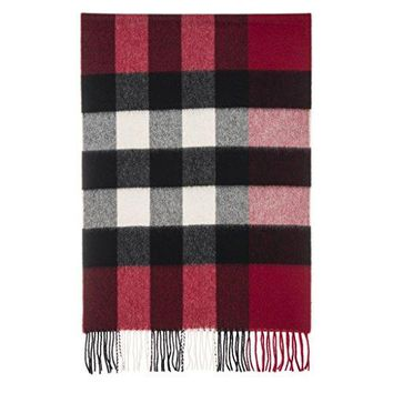 Burberry Women's Half Mega Check Scarf Red