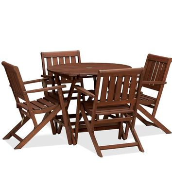 CHATHAM ROUND FOLDING BISTRO TABLE & CHAIR SET