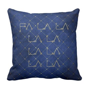 Fa La La Throw Pillow