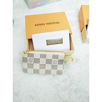 Louis Vuitton Monogram Canvas Key Pouch Key case - purse B-MYJSY-BB White