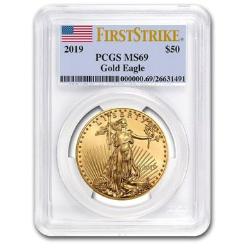 2019 1 oz Gold American Eagle MS-69 PCGS (First Strike)