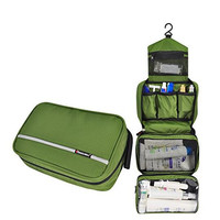 Toiletry Bag, Travelmall Delicate Hanging Travel Toiletry Bag for Business Tiny Handbag (army green)