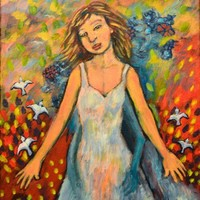Armed with Angels - Original Acrylic Painting - Spiritual Folk Art